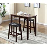 Amazon Price History for:Roundhill Furniture 3-Piece Counter Height Glossy Print Marble Breakfast Table with Stools