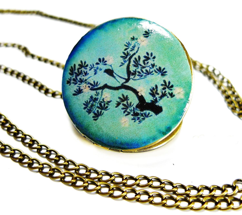 Ladyville Foto Medaillon an einer Kette - Vogel im Zauberwald 4260220084495