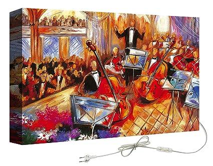 Decoralive orchestra pubblico quadro con retroilluminazione x