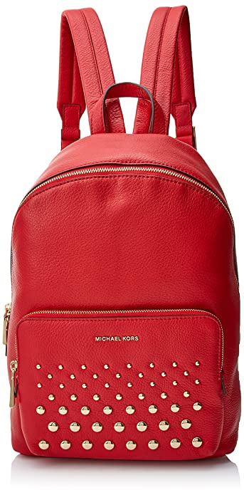 Michael Kors Wythe, Bolso mochila para Mujer, Rojo (Bright Red), 12.7