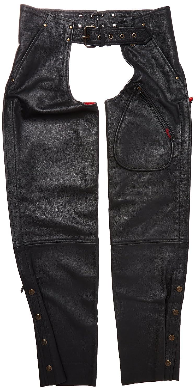 Black, XX-Large Milwaukee Mens Basic Coin Pocket Leather Chaps