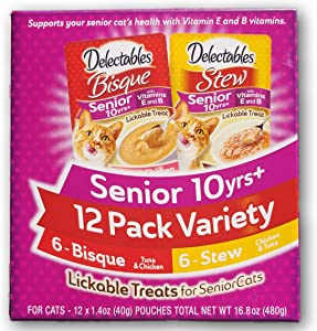 Delectables Senior 10 Years+ Variety Pack of 12. (6) Bisque and (6) Stew