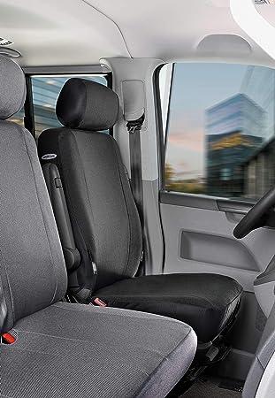 Sitzbezüge Schonbezüge SET AD VW Crafter Stoff schwarz