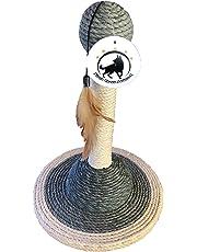 Aquagart® Katzenspielzeug Kratzspielzeug perfekt zum Wetzen der Krallen Kratzbaum Kratzsäule Sisalstamm Kratzbaum