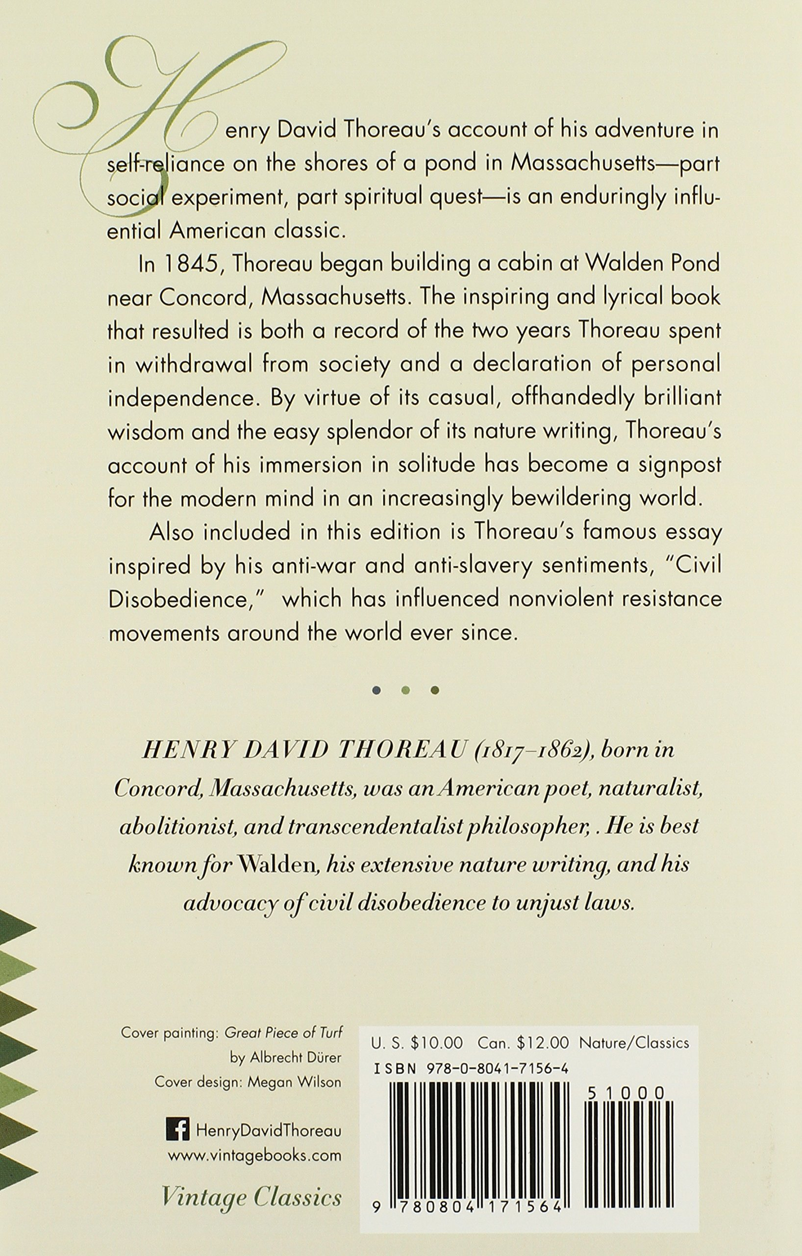 walden civil disobedience vintage classics henry david walden civil disobedience vintage classics henry david thoreau 9780804171564 amazon com books