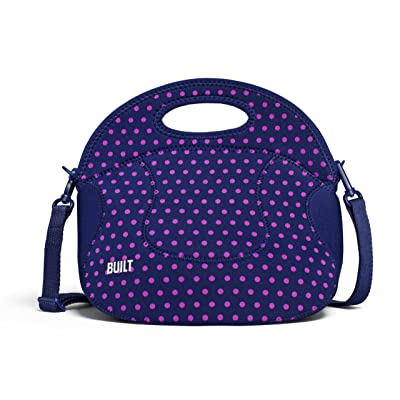 Built NY LB12-MNV Spicy Relish Neoprene Lunch Bag with Adjustable Crossbody Strap, 1 EA, Mini Dot Navy: Reusable Lunch Bags: Kitchen & Dining