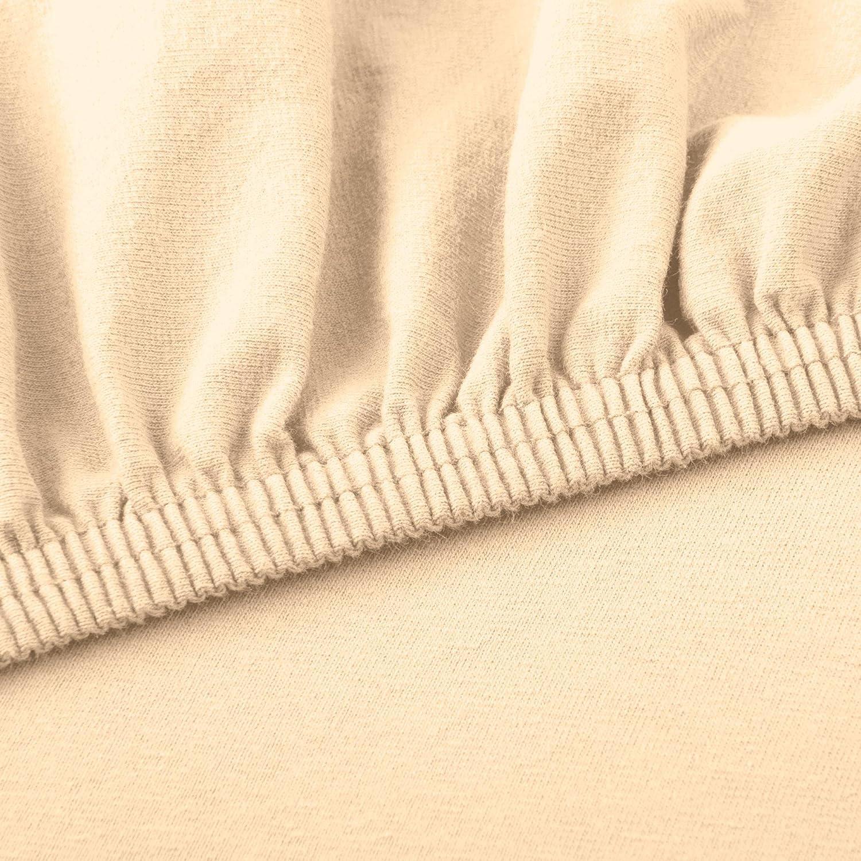 CelinaTex Lucina Spannbettlaken 90x200-100x200 cm Natur beige Baumwolle Spannbetttuch
