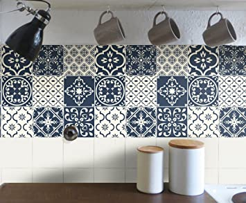 Fantastisch Fliesenaufkleber Bad Deko U. Küche   Portugiesisch Blau Creme Muster  Fliesensticker Blau |