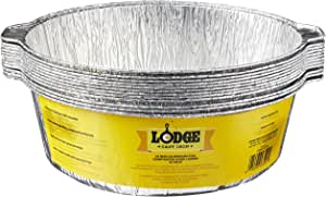 Lodge 12-Inch Aluminum Foil Dutch Oven Liners, 12-Pack, Silver
