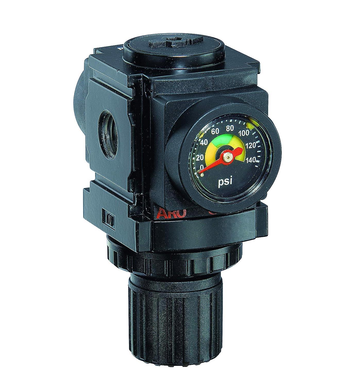 "ARO R37121-600-VS Air Regulator 1/4"" NPT, w/ Gauge - 250 psi Max Inlet"