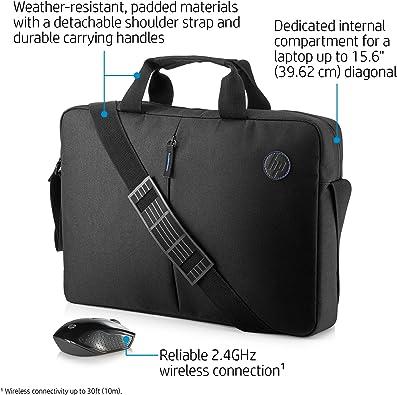 Hp Value Bundle 2gj35aa Aktentasche Mit Reißverschluss Und Wireless Maus Kit 15 6 Zoll Schwarz Schuhe Handtaschen