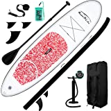 FEATH-R-LITE Inflatable Stand Up Paddle Board 10'x30''x6'' Ultra-Light (16.7lbs) SUP with Paddleboard Accessories,Three Fins,