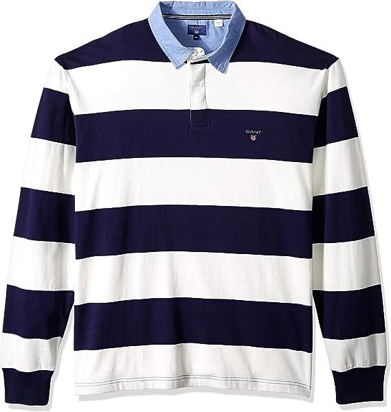 GANT Stripe Rugby Shirt Sudadera para Hombre: Amazon.es: Ropa y ...