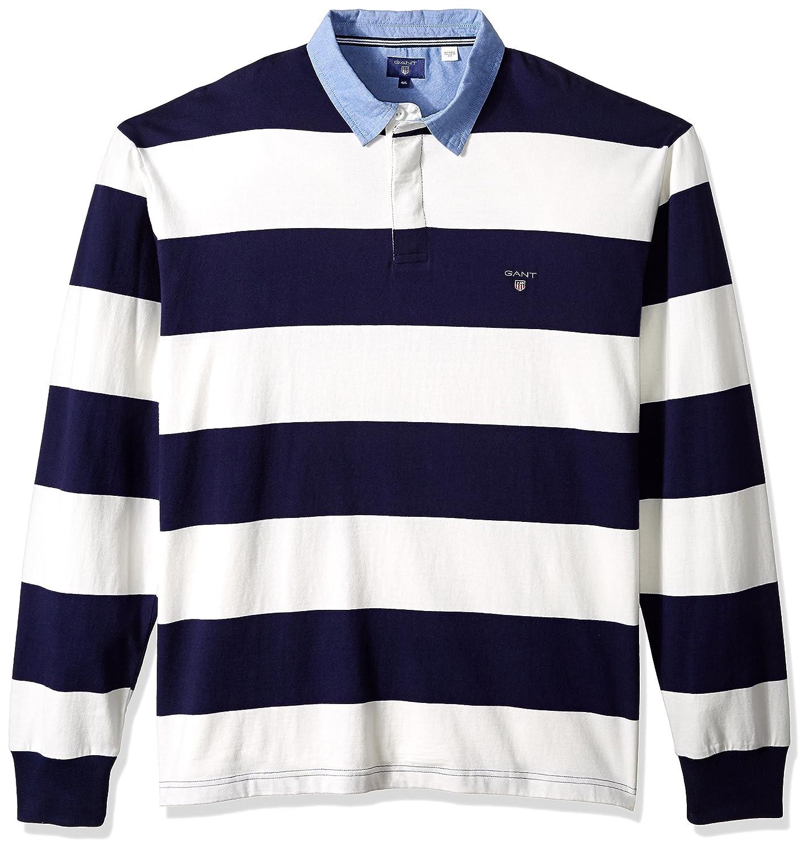 Gant Hombre 235501 Manga Larga Camisa - Beige - 5X-Large: Amazon ...