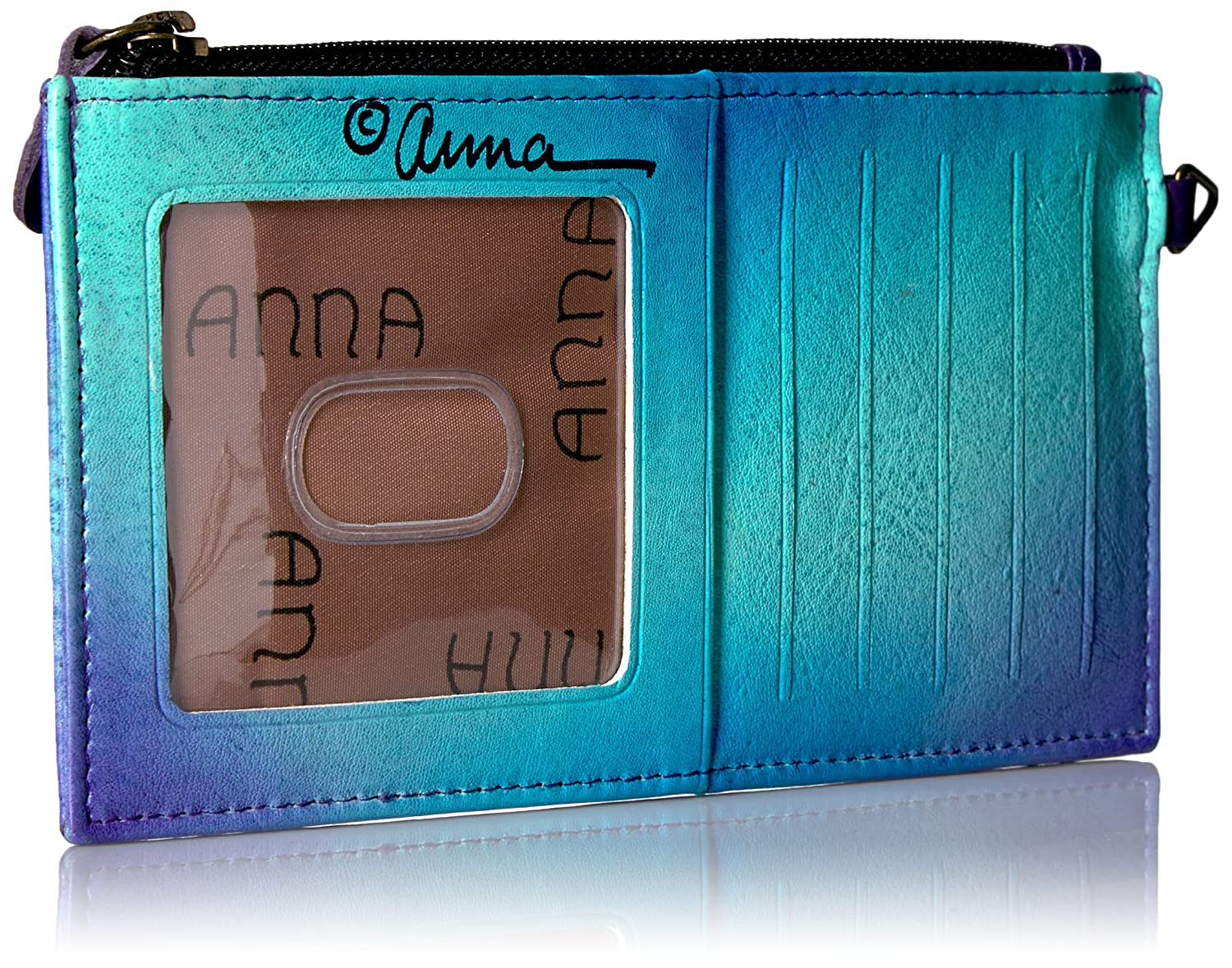 Five Credit Card Holders Anna by Anuschka Womens Genuine Leather Organizer Wallet