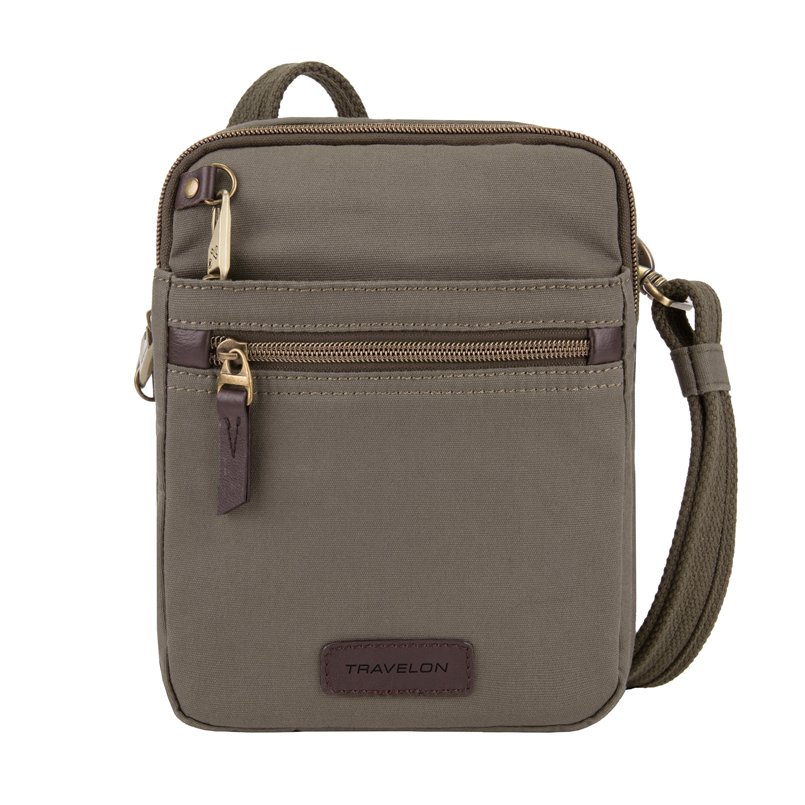 Travelon Anti-Theft Courier Small N/s Slim Travel Tote, Stone Gray, One Size