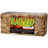 African Black Soap - 1 pound. Raw Organic Soap for Acne, Dry Skin, Rashes, Burns, Scar Removal, Face & Body Wash,