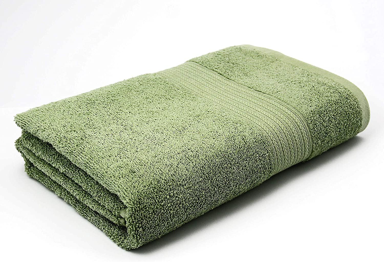 AKTI COTTON - 1 PCS BATH SHEET 40inch X60inch - AKTI 100% Cotton Towels 100cm X 150cm Bath Sheet Premium, Extra Large Size, Bath Sheet Cotton for Maximum Softness and Absorbency,Wash Before Use (Sage) 91uQHQabmHL