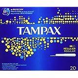 Tampax - Tampons Classiques avec Applicateur en Plastique x 20 - Régulier