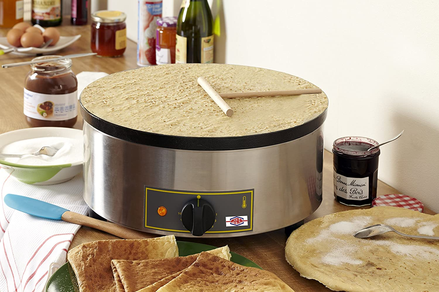 Image of Crepe Makers Equipex 400FE Sodir 15.75-Inch Single Crepe Maker/Machine with Cast Iron Plate, 240v