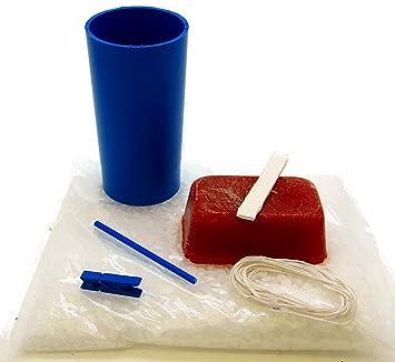 Kit para hacer velas con molde de pilar