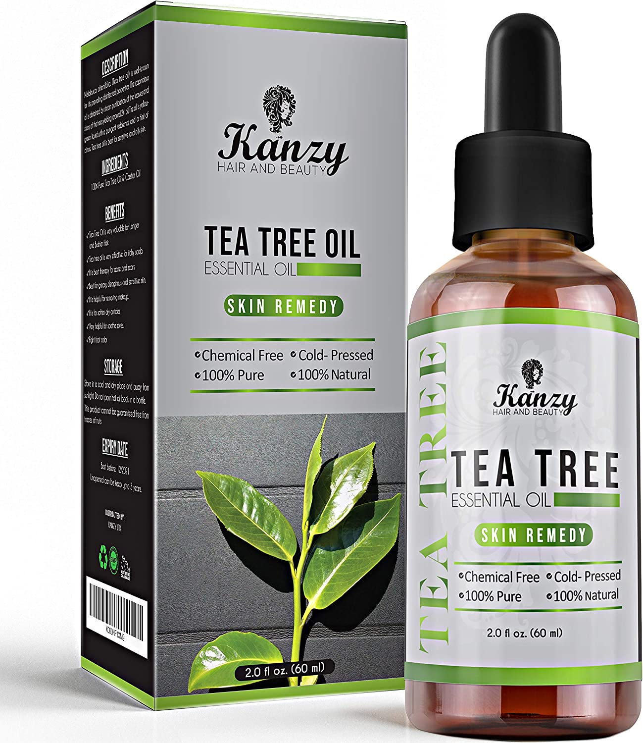 Kanzy Aceite Arbol del Te 60ml Natural Tea Tree Oil Bio