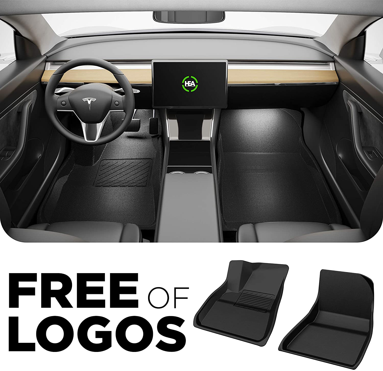 Black Interior Accessories Without Logo Fits 2017-2020 USA Premium All Weather /& All Season Waterproof 3D Floor Liners Front /& Back Set of Floormats HEA Tesla Model 3 Floor Mats