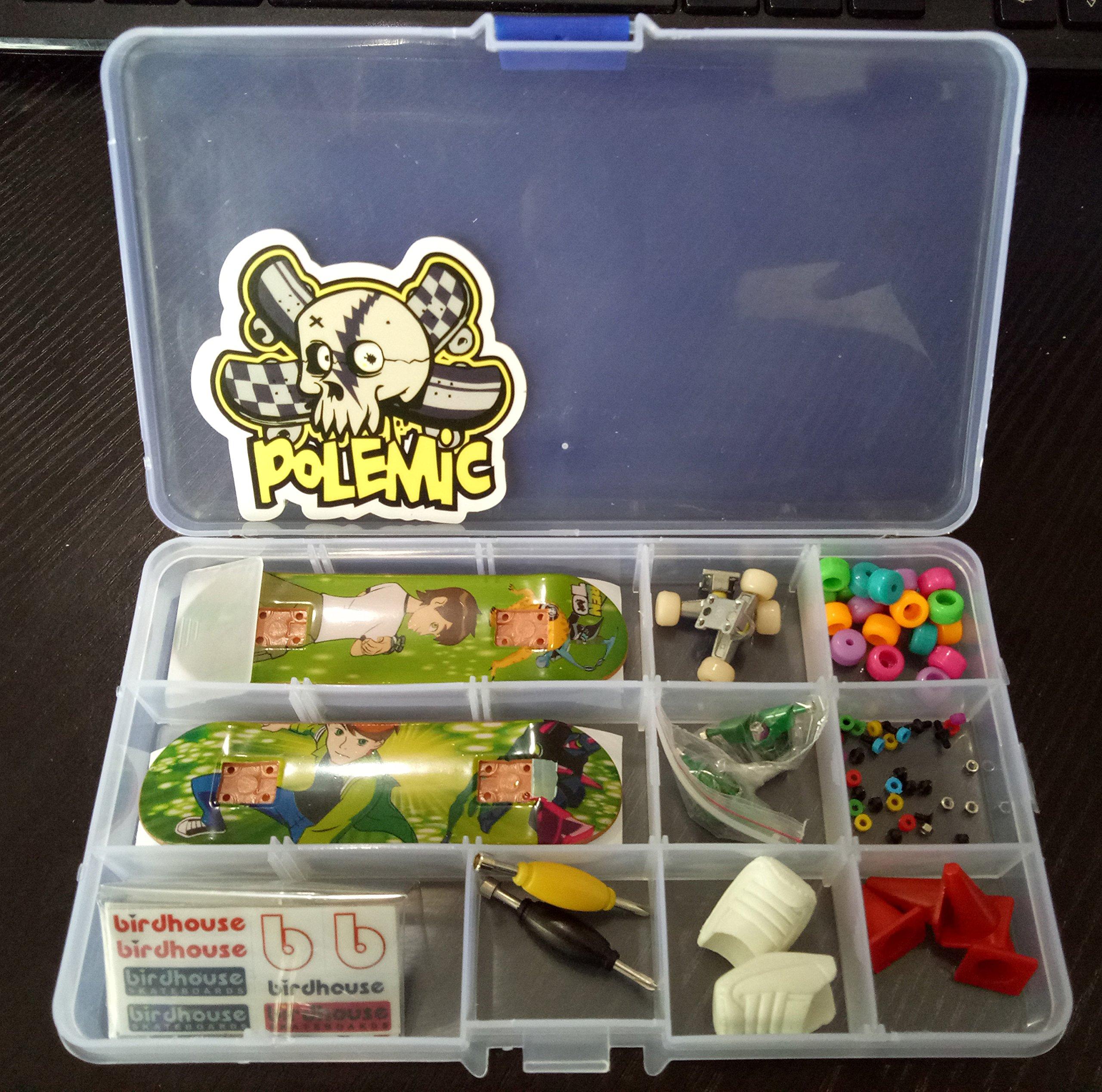 Fanci ABS Finger Skateboard Set Double Rocker DIY Mini Finger Boarding Toy with Storage Box by Fanci (Image #3)