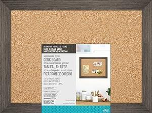 The Board Dudes: Cork Board - Distressed Wood Frame (17″ X 23″)