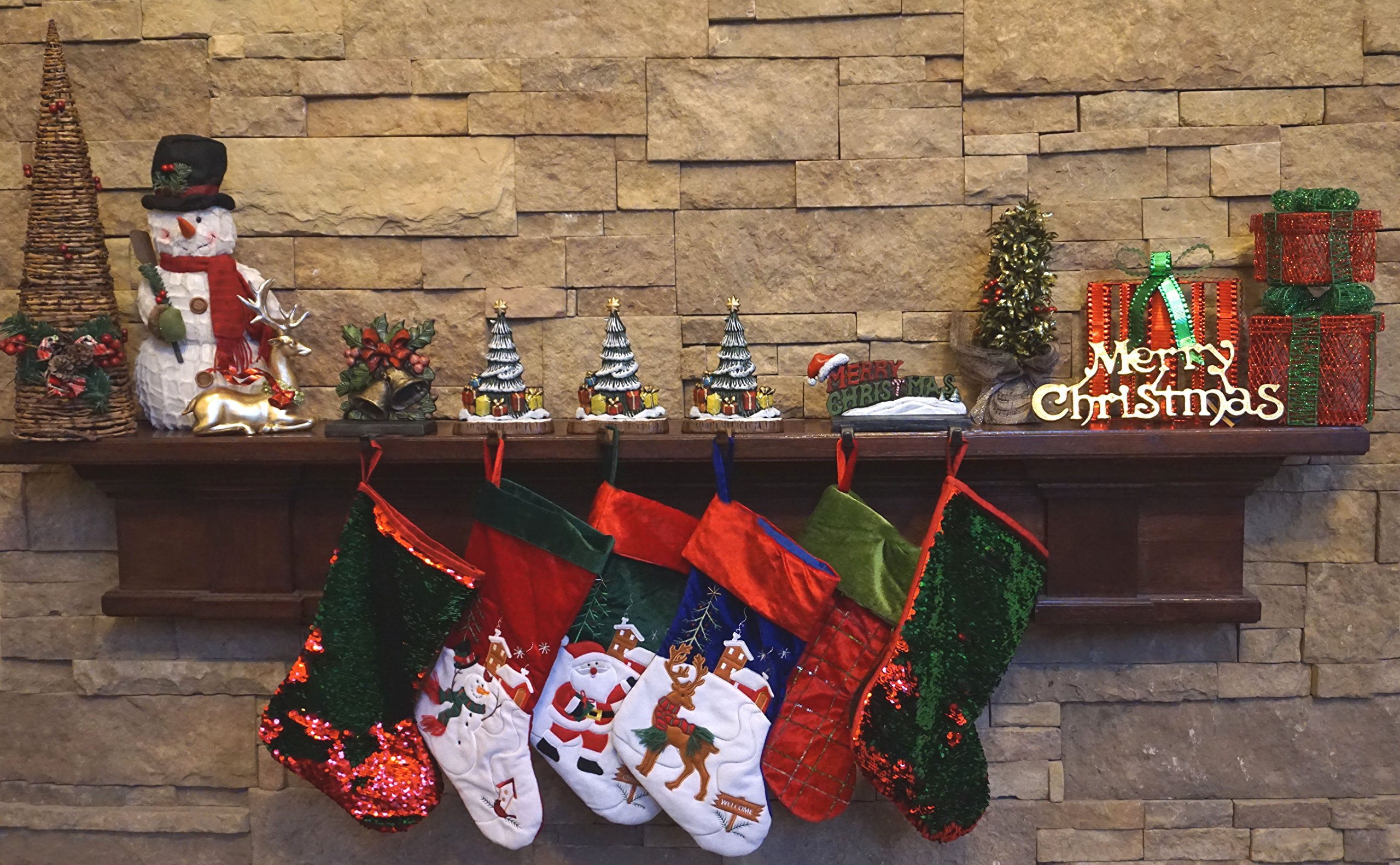 Lulu Decor, 100% Cast Iron Combo Deal, Decorative 6 stocking holders, includes 3 Christmas Trees, 1 Merry Christmas & 1 Bell (Combo deal Tree with MC & Bell) by LuLu (Image #2)