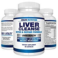 Liver Cleanse Detox & Repair Formula – 22 Herbs Support Supplement: Milk Thistle...