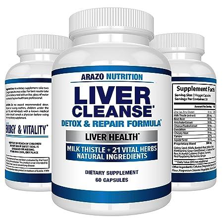 Amazon com: Liver Cleanse Detox & Repair Formula – 22 Herbs