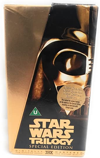 Star Wars Trilogy Special Edition Gold Box Set Vhs Mark Hamill Harrison Ford Carrie Fisher Alec Guinness George Lucas Mark Hamill Harrison Ford Amazon Co Uk Video