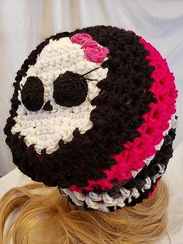 Amazoncom Crochet Skull Hat Made By Gentree On Amazon Handmade