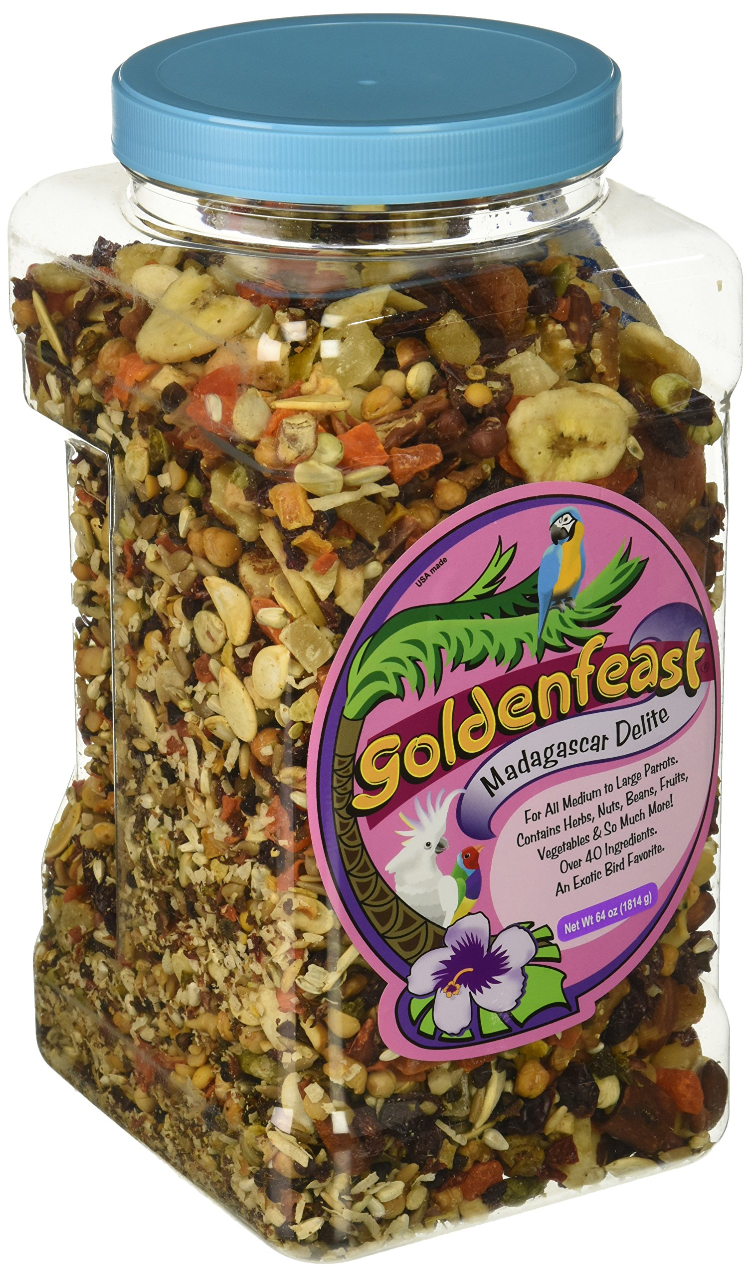 Goldenfeast Madagascar Delite 64Oz Bird Food by Goldenfeast