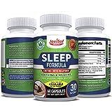 #1 Natural Sleep Aid Supplements with Melatonin, Valerian Root, 5HTP, Magnesium, Ashwagandha and Chamomile | Fall Asleep Fast Longer- Best Natural Sleeping Pills | Natural Calm Supplement | 60 Count