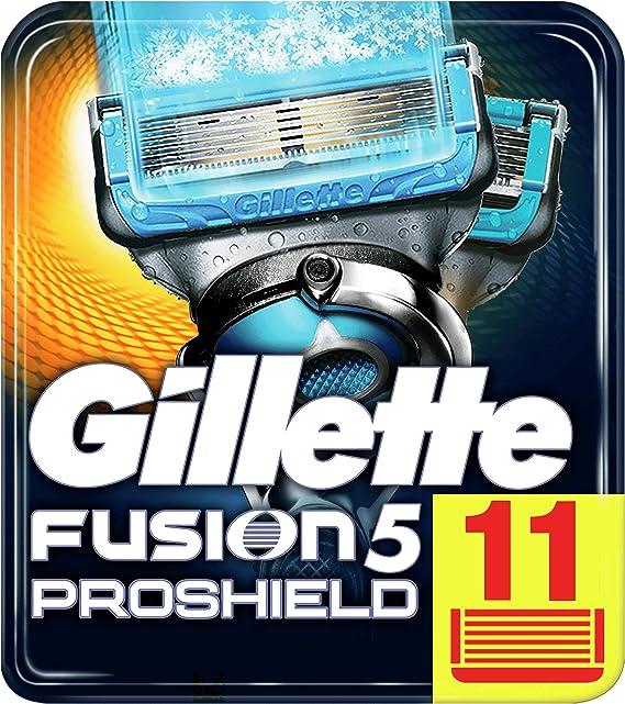 Gillette Fusion Proshield Chill Cuchillas de Afeitar para Hombre - 11 unidades, modelos aleatorios: Amazon.es: Salud y cuidado personal
