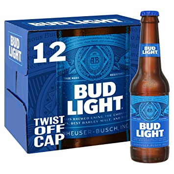 Awesome Bud Light Lager Bottle, 12 X 300ml Awesome Design