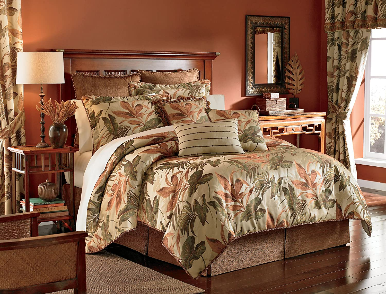 amazon king comforter sets Amazon.com: Croscill Home Fashions Bali 4 Piece Harvest King Size  amazon king comforter sets