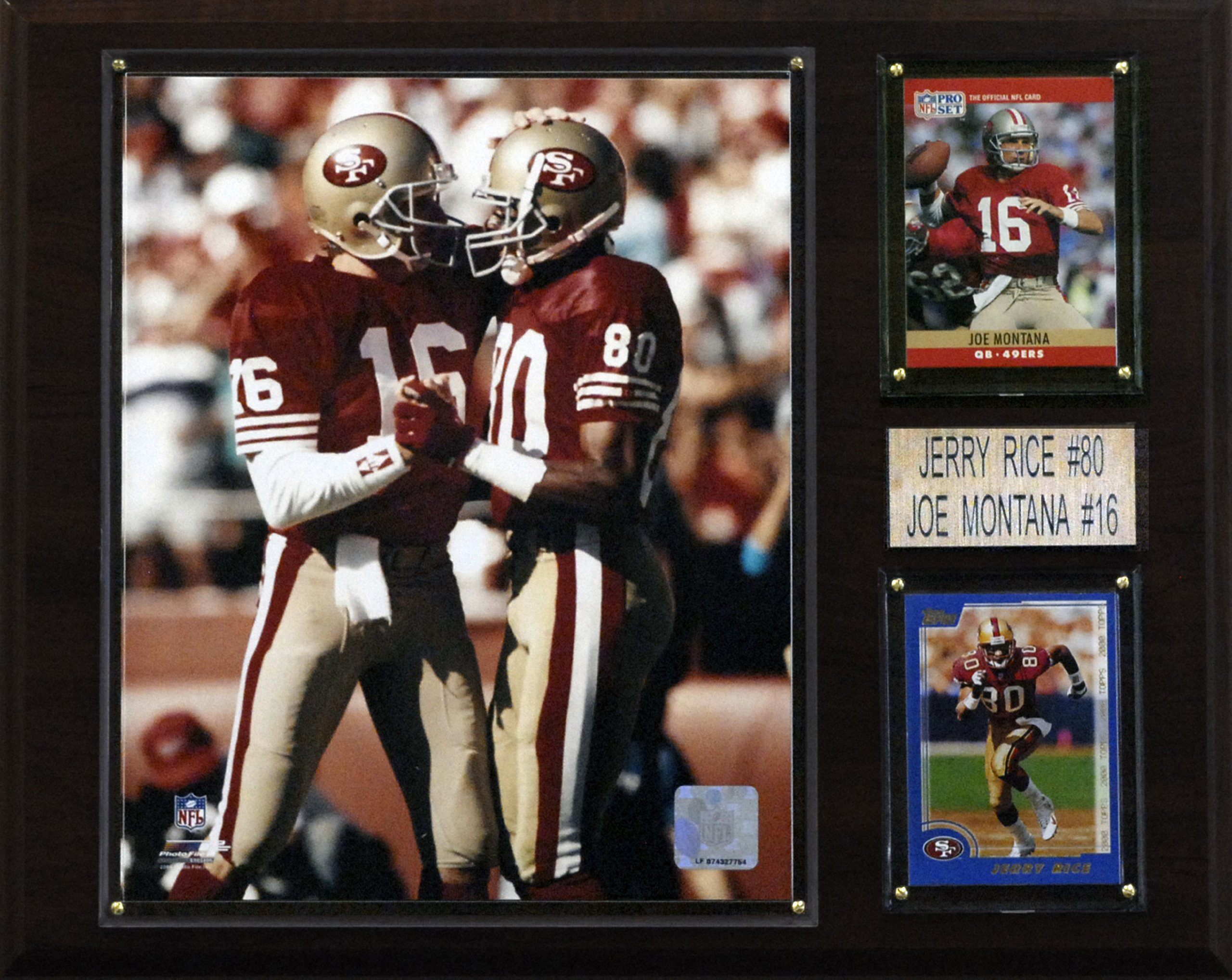 NFL Montana-Rice San Francisco 49ers Player Plaque by C&I Collectables