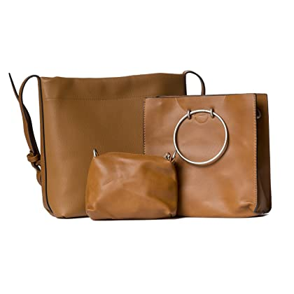ff80c43cfe Handbag Republic Womens Designer Vegan PU Leather Messenger Bag Three Piece  Purse Set For Ladies Girls