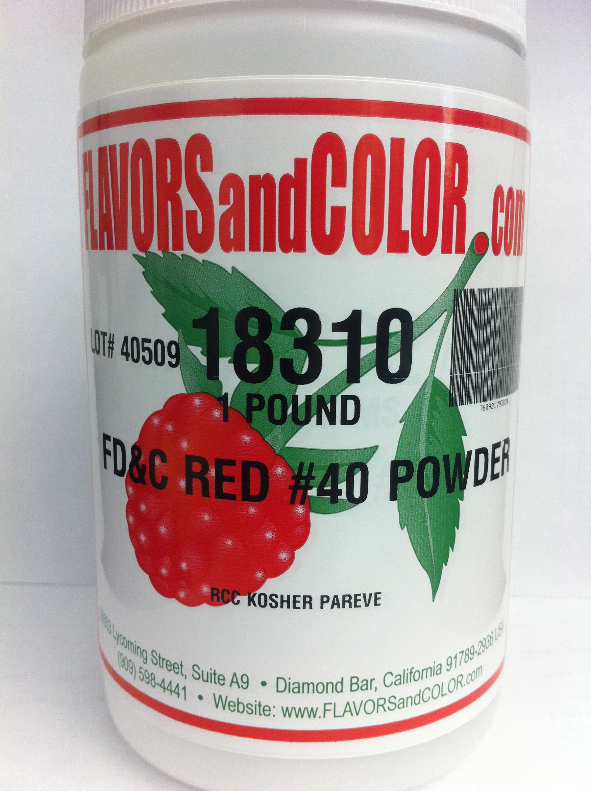 FD&C Red #40 Powder 454 Grams by FLAVORSandCOLOR.com (Image #1)
