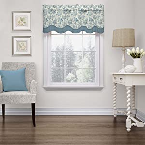 Waverly 15404052018CRF Charmed Life 52-Inch by 18-Inch Wave Window Valance, Cornflower
