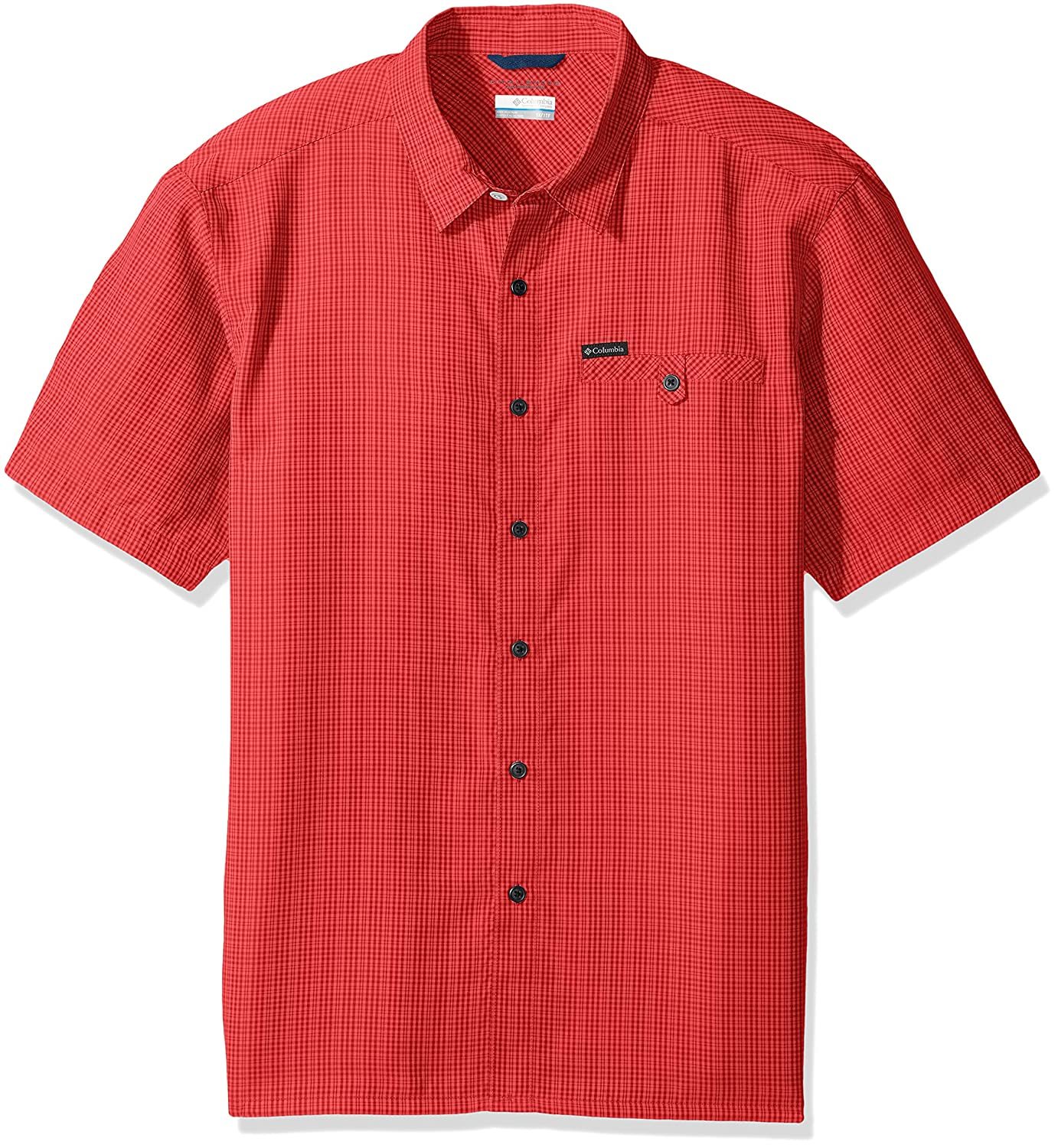 Sunset rouge Plaid 1X Columbia Declination Trail Ii,  Homme