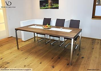 Holztisch Design esstisch ahorn massiv 300 x 100 cm designer tisch