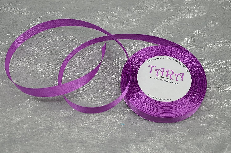 32m Satinband 6mm 120 Violett // Deko Band Schleifenband Dekoband Geschenkband Hochzeit Kommunion