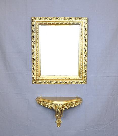Consolle Classiche Dorate.Ideacasa Consolle Oro Specchio Dorato Finto Vintage Stile