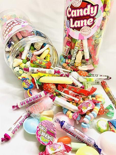 Tarro grande retro para dulces – Old Time Sweets – tarro de 2,5 litros lleno de dulces favoritos de la tienda: Amazon.es: Alimentación y bebidas
