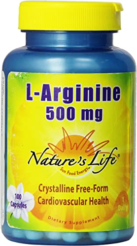 Nature s Life L-Arginine Capsules, 500 Mg, 100 Count