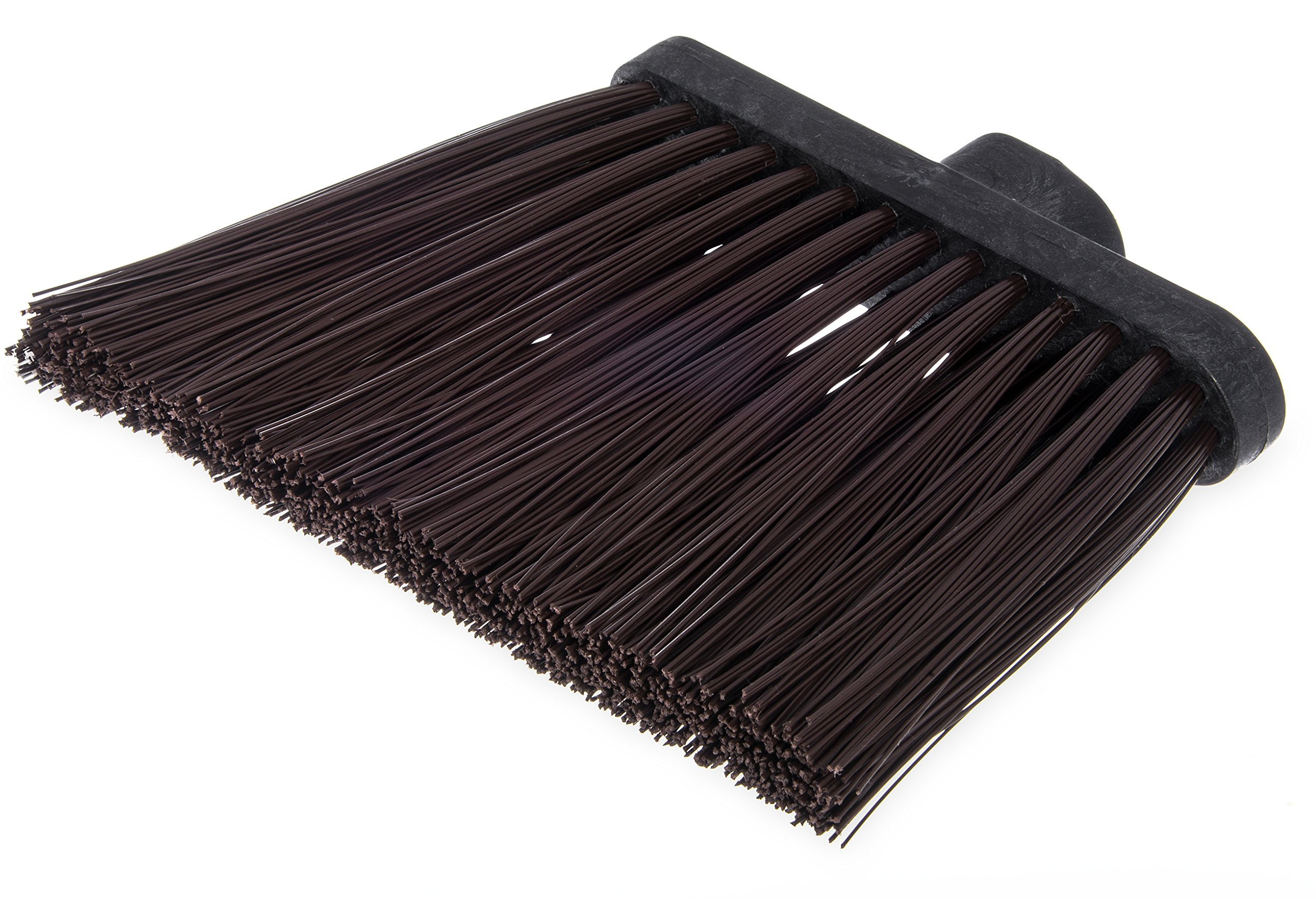 Carlisle 3686801 Duo-Sweep UnFlagged Angle Broom Head, 8'', Brown (Pack of 12) by Carlisle